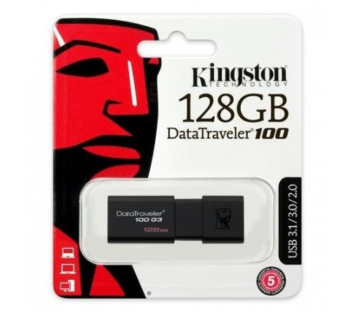 USB 3.1 Kingston DT100 G3 128GB 130 MB/s